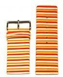 Konvolut 25 Stück Uhrenarmbänder Leder orange/weiß - 30 mm