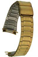 Edelstahluhrarmband gold runder Steganschluss - 19 mm