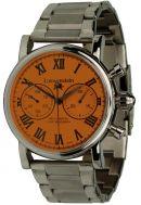 Löwenstein Uhren Schaltrad-Chronograph mit Handaufzugwerk Edelstahluhrband