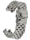 Edelstahl Uhrenarmband massiv 5-reihig poliert 20 mm Ersatzband