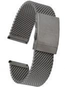 Zeno Watch Basel XXL Milanaise Edelstahluhrenarmband 22 mm Länge 19 - 21 cm