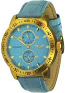 Uhren - Modell Limoges gold/hellblau - Regulateur