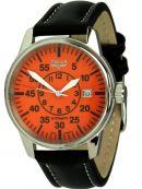 Uhren - Fliegeruhr mit orangefarbenem Zifferblatt