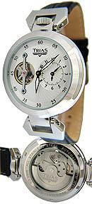 Trias Uhren Automatikuhr Octave mit Krone im Hantelanstoss