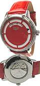 Trias rote Automatik Uhr mit digitaler Zeitanzeige