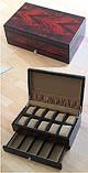 Edle Holzbox im Mahagoni-Design für 10-15 Uhren
