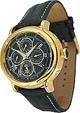 Trias Uhren - ovale Automatikuhr gold/schwarz